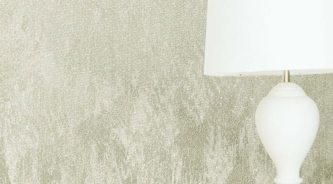 Crown Alexis Texture Ivory Metallic Wallpaper