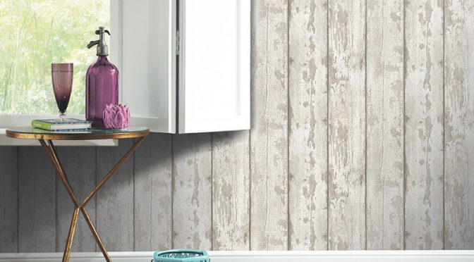 Arthouse Opera White Washed Wood Wallpaper