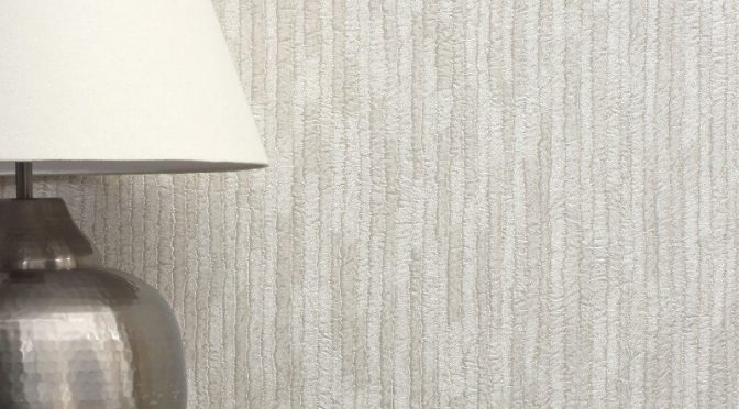 Crown Bergamo Texture Silver/Cream Glitter Wallpaper
