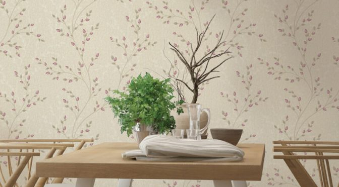 Holden Decor Amelio Trail Red Beige Metallic Wallpaper