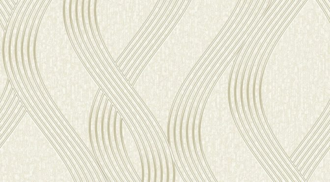 Holden Decor Sofia Wave Cream Metallic Wallpaper