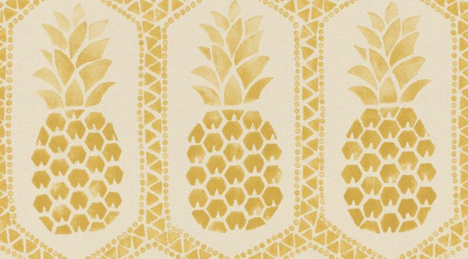 Barbara Becker Pineapples Cream/Gold Wallpaper