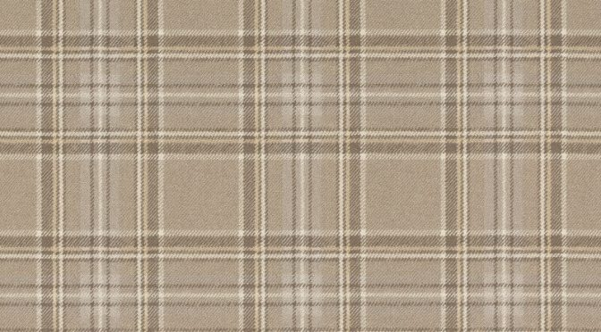Barbara Becker Tartan Plaid Warm Beige Wallpaper