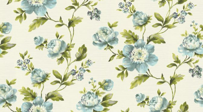 Freundin Ditsy Floral Blue/Cream Wallpaper