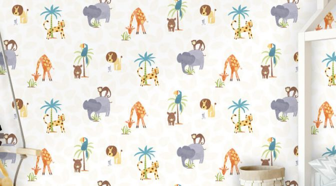 Holden Decor Jungle Animal Friends Multi Wallpaper