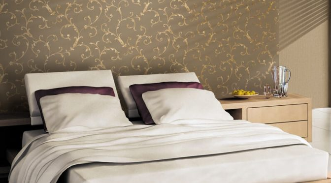 Muriva Acanthus Scroll Bronze Wallpaper