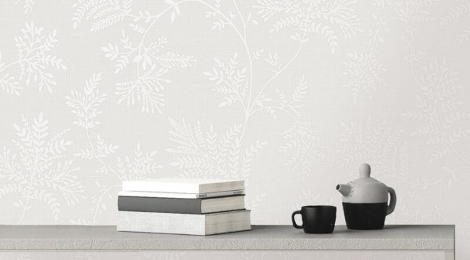 Holden Decor Elsie Jacobean Dove/Silver Metallic Wallpaper