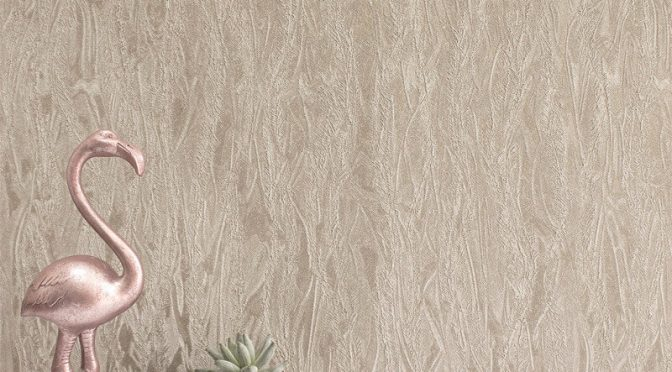 Rasch Plain Texture Gold Metallic Wallpaper