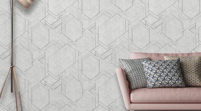 Muriva Stratis Geo Grey Wallpaper