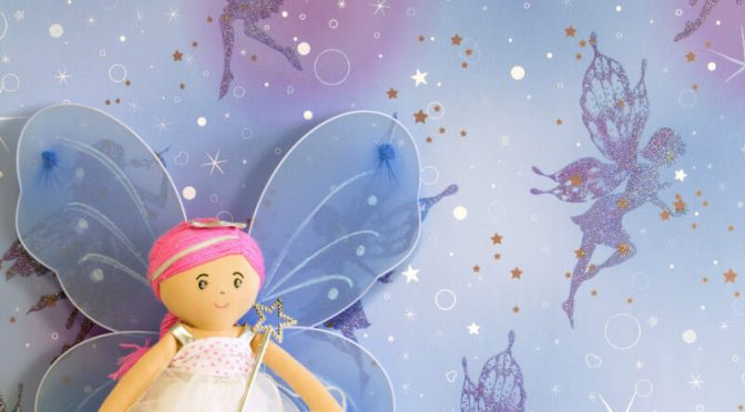Coloroll Be Dazzled Fairy Dream Moondust Glitter Wallpaper