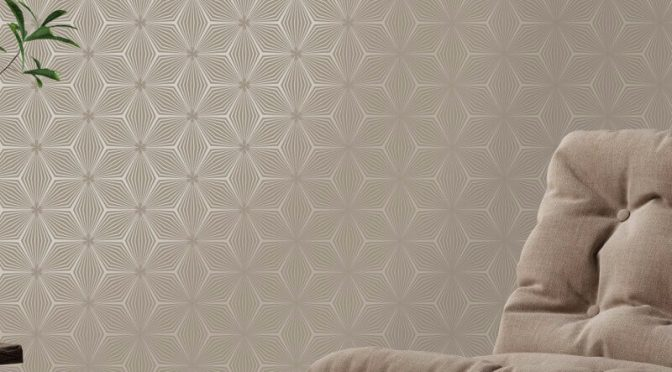 Holden Decor Sparkle Star Taupe/Gold Metallic Wallpaper
