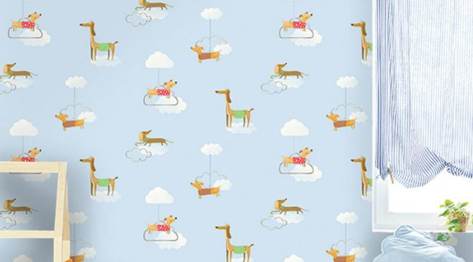 Holden Decor Walkies Dog Pattern Wallpaper