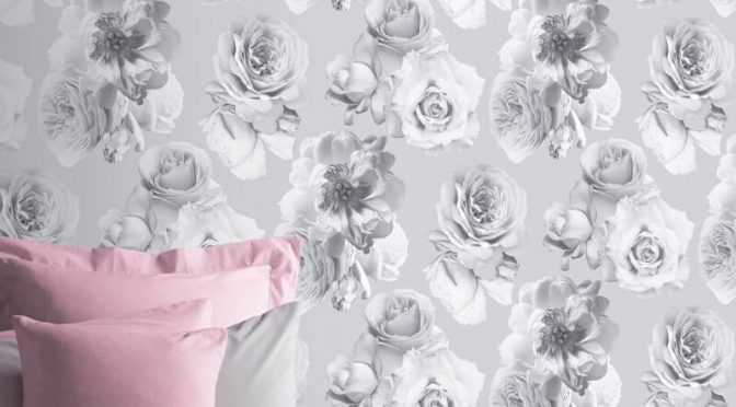 Arthouse Floral Bloom Silver Metallic Wallpaper